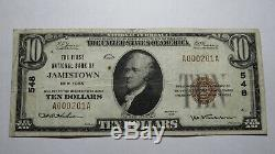 10 $ 1929 Billet De Banque En Monnaie Nationale Jamestown New York, Ny, Bill Ch. # 548 Amende