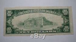 10 $ 1929 Billet De Banque En Monnaie Nationale Marine Illinois Il! Ch. # 10582 Vf