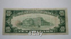 10 $ 1929 Billet De Banque En Monnaie Nationale Princeton Illinois IL 193 Ch. Bill Ch. # 2413 Vf ++