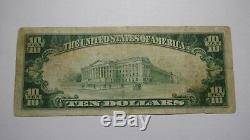 10 $ 1929 Billet De Banque National De La Monnaie Nationale Du Michigan MI À Hartford, Bill Ch # 9854 Fine