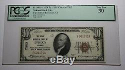 10 $ 1929 Billet De Banque National Du Ks Eureka Kansas B Bill Ch # 7303 Vf30 Pcgs