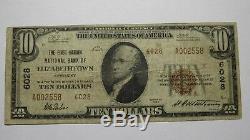 10 $ 1929 Billet De Banque National En Devise Elizabethtown Kentucky Ky Billet N ° 6028 Fine