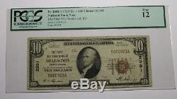 10 $ 1929 Billet De Banque National En Devises De Deadwood Dans Le Dakota Du Sud Sd, Projet De Loi 2389