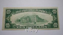 10 $ 1929 Billet De Banque National Libellé En Devise Canajoharie New York Ny Bill Ch # 1257 Vf +