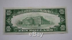 10 $ 1929 Billet De Billet De Banque De La Devise Nationale Kent Ohio Oh! Ch. # 652 Non Circulé