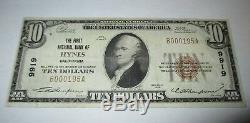 10 $ 1929 Billet De Billet De Banque De La Monnaie Nationale Hynes California Ca! Ch. # 9919 Vf +