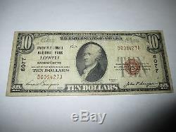 10 $ 1929 Billet De Billets De Banque Nationale De Monnaie Nationale Lowell Massachusetts Ma! Ch # 6077 Fine