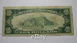 10 $ 1929 Billet De Monnaie National Matawan New Jersey Nj Billets De Banque Bill Ch. # 6440 Rare