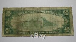 10 $ 1929 Billets De Banque De La Monnaie Nationale Kaufman Texas Tx - Bill Ch. # 3836 Rare