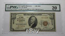 10 $ 1929 Billets De Banque En Monnaie Nationale Kalispell Montana Mt - Billets Au Ch. # 4803 Vf20
