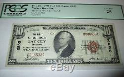 10 $ 1929 Billets De Banque En Monnaie Nationale MI Bay City Michigan MI Bill Ch. # 2853 Vf