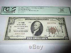 10 $ 1929 Bloomsbury New Jersey Nj Note De La Banque Nationale De Billets Bill No 12984 Vf