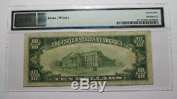 10 $ 1929 Brundidge Alabama Al Banque Nationale Monnaie Note Bill # 7429 Pmg Vf25