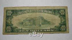 10 $ 1929 Catskill New York, Ny Banque Nationale Monnaie Note Bill Ch. # 1294 Rare