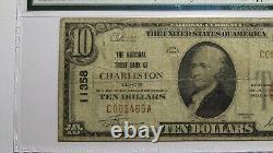 $10 1929 Charleston Illinois IL Monnaie Nationale Note De Banque Bill Ch. #11358 F12