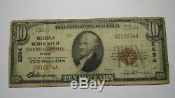 10 $ 1929 Charlottesville Virginia Va Banque Nationale Monnaie Note Bill! Ch. # 2594