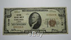 10 $ 1929 Chicago Illinois IL Banque Nationale Monnaie Note Bill! Ch. # 13146 Fin