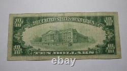 $10 1929 Connellsville Pennsylvania Pa National Currency Bank Note Bill! #13491