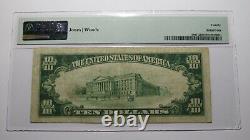10 1929 Corse Texas Tx Monnaie Nationale Banque Note Bill Ch. #3506 Vf20 Pmg
