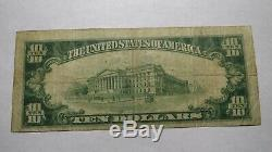 10 $ 1929 Corsicana Texas Tx Banque Nationale Monnaie Note Bill! Ch. # 3506 Fin