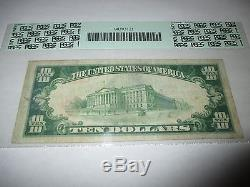 10 $ 1929 Cottonwood Falls Kansas Ks Note De La Banque Nationale De Billets Bill N ° 6590 Vf