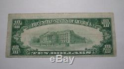 10 $ 1929 Cumberland Maryland MD Banque Nationale Monnaie Note Bill Ch. # 1519 Vf