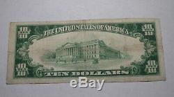 10 $ 1929 Decatur Illinois IL Banque Nationale Monnaie Note Bill! Ch. # 4920 Fin