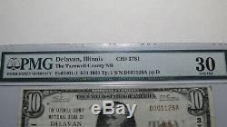 10 $ 1929 Delavan Illinois IL Banque Nationale Monnaie Note Bill! Ch. # 3781 Vf30