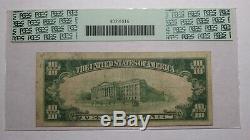 10 $ 1929 Derry Pennsylvania Pa Banque Nationale Monnaie Note Bill Ch. # 13794 Pcgs