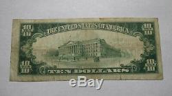 10 $ 1929 Dieterich Illinois IL Banque Nationale Monnaie Note Bill! Ch. # 9582 Vf