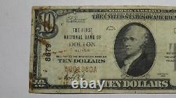 10 1929 Dolton Illinois IL Monnaie Nationale Note De Banque Bill Ch. #8679 Rare