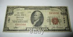 10 $ 1929 Dover Delaware De Banque Nationale Monnaie Note Bill Ch. # 1567 Fin