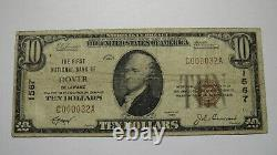 10 $ 1929 Dover Delaware De National Currency Bank Note Bill Ch. #1567 Rare