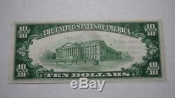 10 $ 1929 Easthampton Massachusetts Banque Nationale Monnaie Note Bill Ongecirculeerd