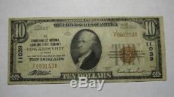 10 $ 1929 Edwardsville Illinois IL Banque Nationale Monnaie Remarque Le Projet De Loi # 11039 Fin