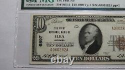 10 $ 1929 Elba Alabama Al National Currency Bank Note Bill Ch. #6897 Xf40 Pmg