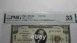 $10 1929 Elgin Illinois IL National Currency Bank Note Bill Ch. #7236 Vf35 Pmg