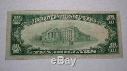 10 $ 1929 Elmira New York, Ny Banque Nationale Monnaie Note Bill! Ch. # 149 Vf +