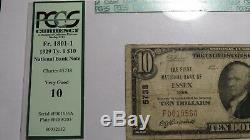 10 $ 1929 Essex Iowa Ia Billets De Banque En Billets De Banque Nationaux Bill Ch.