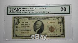 10 $ 1929 Facture De Billet De Banque En Devise Nationale De Phoenix Arizona Az! Ch. # 3728 Vf Pmg