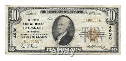 10 $. 1929 Fairmont Minnesota National Currency Bank Note Bill Ch. #4936