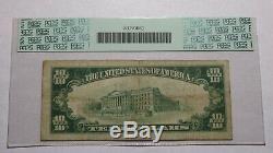 10 $ 1929 Fargo Dakota Du Nord Nd Banque Nationale Monnaie Note Bill Ch. # 2377 Pcgs
