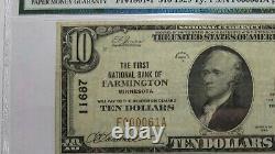 10 1929 Farmington Minnesota Mn Monnaie Nationale Banque Note Bill #11687 Vf Pmg