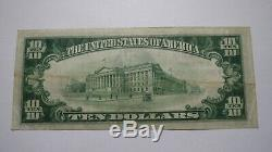 10 $ 1929 Fond Du Lac Wisconsin Wi Banque Nationale Monnaie Note Bill Ch. # 555 Vf +