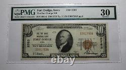 $10 1929 Fort Dodge Iowa Ia National Currency Bank Note Bill Ch. #2763 Vf30 Pmg