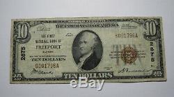 10 $ 1929 Freeport Illinois IL Banque Nationale Monnaie Note Bill Ch. # 2875 Fin +