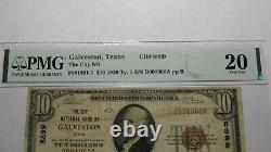 $10 1929 Galveston Texas Tx National Currency Bank Note Bill Ch #8899 Vf20 Pmg