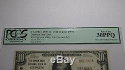 10 $ 1929 Gypsum Kansas Ks Billet De Billet De Banque En Monnaie Nationale! Ch. # 9695 Vf30 Pcgs