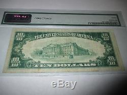 10 $ 1929 Highland Illinois IL National Currency Note De La Banque Bill Ch # 6653 Vf! Rare