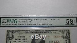 10 $ 1929 Hollidaysburg En Pennsylvanie Pa Banque Nationale Monnaie Note Bill Ch. 6874
